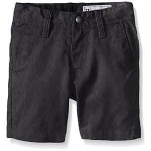 Volcom Boys' Frickin Cotton Twill Chino Short, Charcoal Heather, 22 for $30