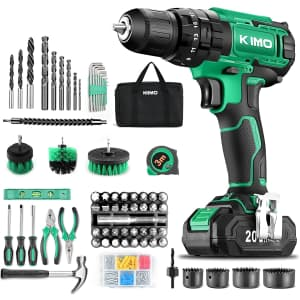 Kimo 68-Piece 20V Cordless Drill Driver Kit for $80