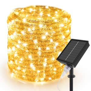 33-Foot Solar LED Rope Lights for $14