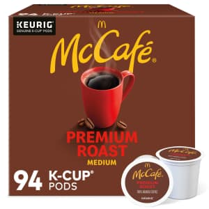 McCafé Coffee Premium Roast Coffee K-Cup 94-Pack for $35 for members