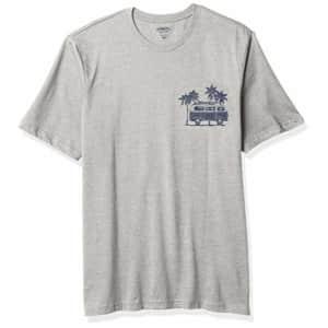 IZOD Men's Big & Tall Tall Saltwater Short Sleeve Graphic T-Shirt, Light Grey Heather Van, 3X-Large for $18
