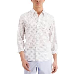 Michael Kors Men's Slim-Fit Stretch Dot Print Shirt for $19