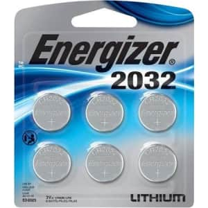 Energizer 2032 3V Lithium Coin Battery 6-Pack for $8