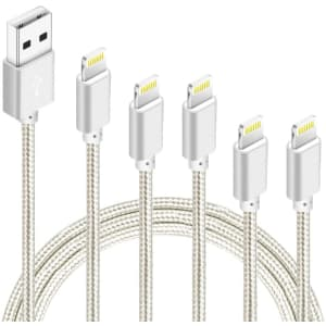 Idison MFi-Certified Lightning Cable 5-Pack for $8