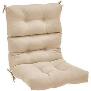 Amazon Basics Tufted Outdoor High Back Patio Chair Cushion- Khaki for $57