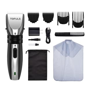 Tofuls Cordless Hair Clippers Kit for $12