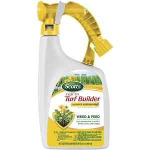 Scotts Liquid Turf Builder with Plus 2 Weed Control Fertilizer for $11