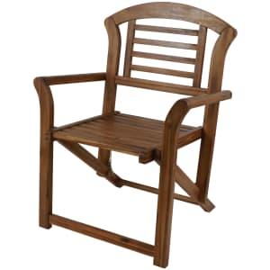 Decor Therapy Fenton Folding Acacia Wood Outdoor Arm Chair for $117
