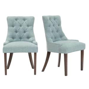 StyleWell Bakerford Upholstered Dining Chair 2-Pack for $134
