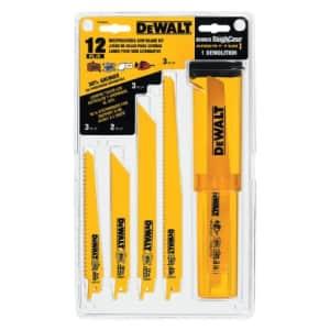 DeWalt DW4892 12-pc. reciprocating saw blade kit for $28