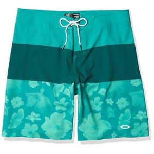 Oakley Men's Floral Seamless 20 Boardshort, Green/Flowers, 36 for $33
