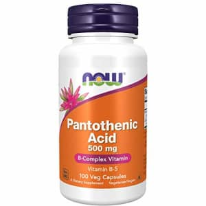 Now Foods NOW Supplements, Pantothenic Acid (Vitamin B-5) 500 mg, B-Complex Vitamin, 100 Capsules for $9
