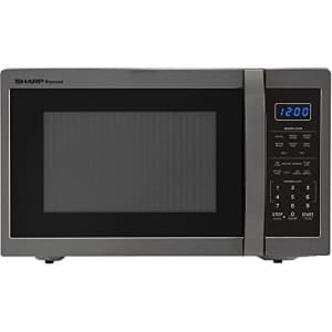 Sharp SMC1452CH Carousel 1.4 Cu. Ft. Countertop Microwave, Black Stainless Steel for $134