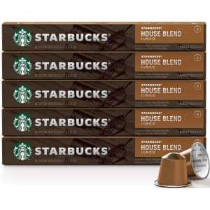 Starbucks for Nespresso House Blend 50-Pack for $24 w/ Sub & Save