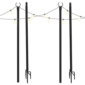 Outdoor Light Pole 2-Pack for $70