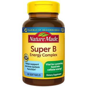 Nature Made Super B Energy Complex Softgels, 60 Count for Metabolic Health (Packaging May Vary) for $8