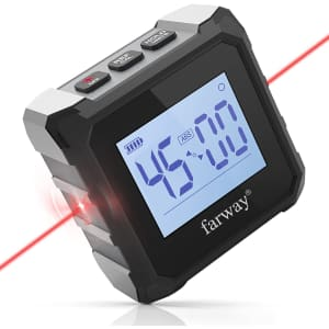Farway Digital Level and Angle Finder for $18