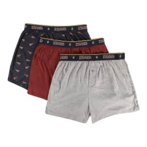 Izod Men's Mystery Boxers 3-Pack for $11
