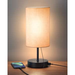 Aukey LED Table Lamp w/ Dual USB Ports for $15