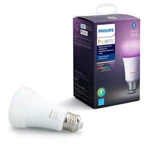 Philips Hue White and Color Ambiance A19 LED Smart Bulb, Bluetooth & Zigbee Compatible (Hue Hub for $50