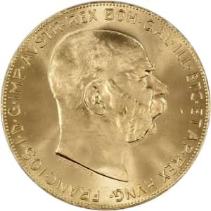 Austria Gold 100 Coronas (.9802 oz) Bullion Coin for $1,814