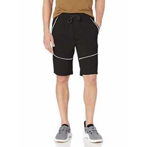 Southpole Men's Tech Fleece Shorts, Black Reflective, Large for $15