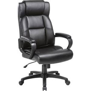 Lorell Soho High-Back Leather Executive Chair, Black for $101