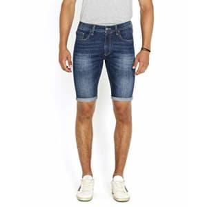 Buffalo David Bitton Men's Parker Denim Shorts, Indigo, 30 for $49