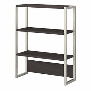 Bush Furniture Bush Business Furniture Office by Kathy Ireland Method Bookcase Hutch, Storm Gray for $185