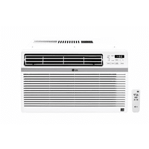 LG 12,000 BTU 115V Window-Mounted Air Conditioner with Remote Control, White for $336