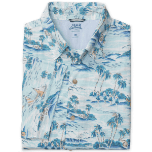 IZOD Men's Dockside Chambray Floral Button-Down Shirt for $19