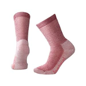 Smartwool Hiking Crew Socks - Womens Medium Cushioned Wool Performance Sock Tibetan Red Large Womens for $25