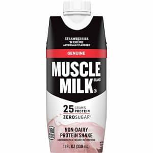 Muscle Milk Genuine Protein Shake, Strawberries 'N Crme, 25g Protein, 11 Fl Oz, 12 Pack for $17