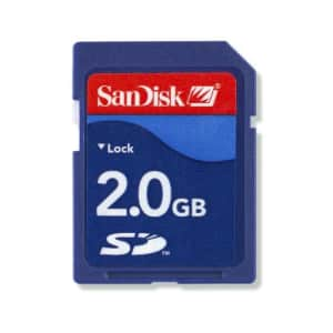 SanDisk 2GB Class 4 SD Flash Memory Card- SDSDB-002G-B35 (Label May Change) for $26