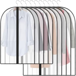 Qisiewell 10-Piece Garment Cover Set for $9