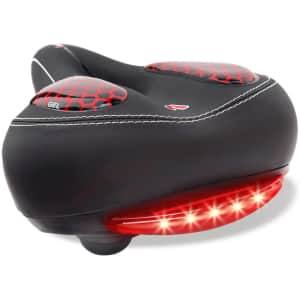 AngLink Bike Seat with LED Taillight for $10