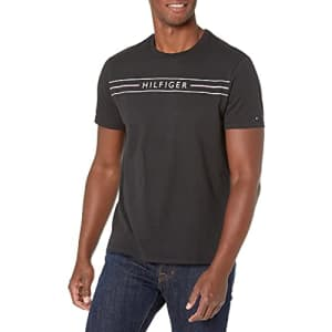 Tommy Hilfiger Men's Short Sleeve Graphic T Shirt, Jet Black, Small for $39