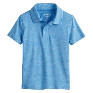 Jumping Beans Toddler Boys' Active Polo for $6