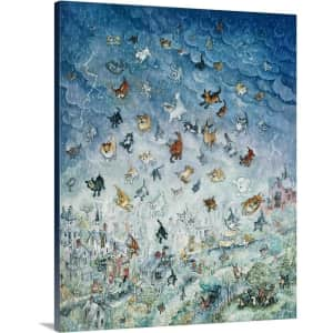 """GreatBigCanvas """"Raining Cats and Dogs"""" 16"""" x 20"""" Canvas Wall Art for $33"""