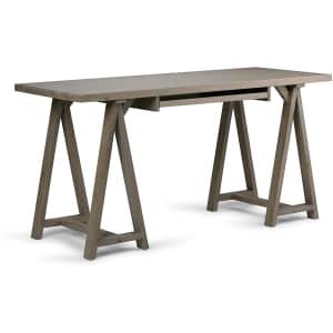 """Simpli Home Sawhorse 60"""" Wide Desk for $230"""