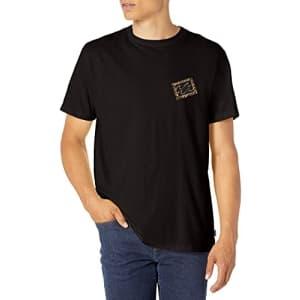 Billabong Men's Classic Short Sleeve Premium Logo Graphic T-Shirt, Crayon Wave Black, Small for $19