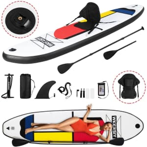 Wkersiy 10.5-Ft. Inflatable Stand Up Paddle Board for $280