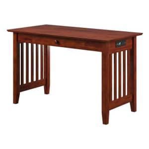 """Atlantic Furniture Mission 48"""" 1-Drawer Solid Hardwood Desk w/ USB Charger for $204"""