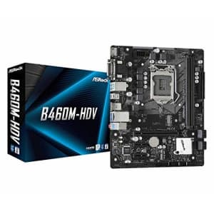 ASROCK B460M-HDV Supports 10th Gen Intel Core Processors (Socket 1200) Motherboard for $128
