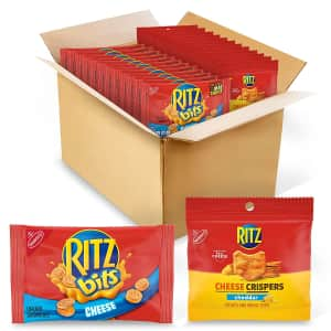 Ritz Bits Crackers & Crispers Cheddar Chips 48-Count Variety Pack for $15