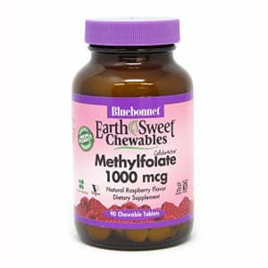 Bluebonnet Earth Sweet Cellular Active Methylfolate 1000 mcg Chewable Tablets, 90 Count for $22