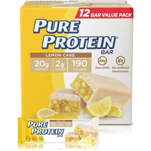 Pure Protein Bar 12-Pack for $6.75 in cart w/ Prime