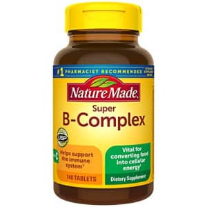Nature Made Super B-Complex with Vitamin C Tablets, 140 Count Value Size for Metabolic Health for $24