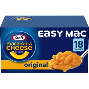 Kraft Easy Mac Macaroni and Cheese Single Serve Pouches 18-Pack for $4.54 via Sub. & Save