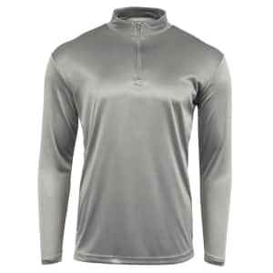 Reebok Men's 1/4 Zip Long Sleeve Shirt: 3 for $45